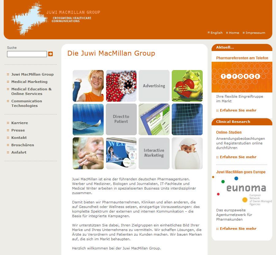 Screenshot: Juwi MacMillan Group