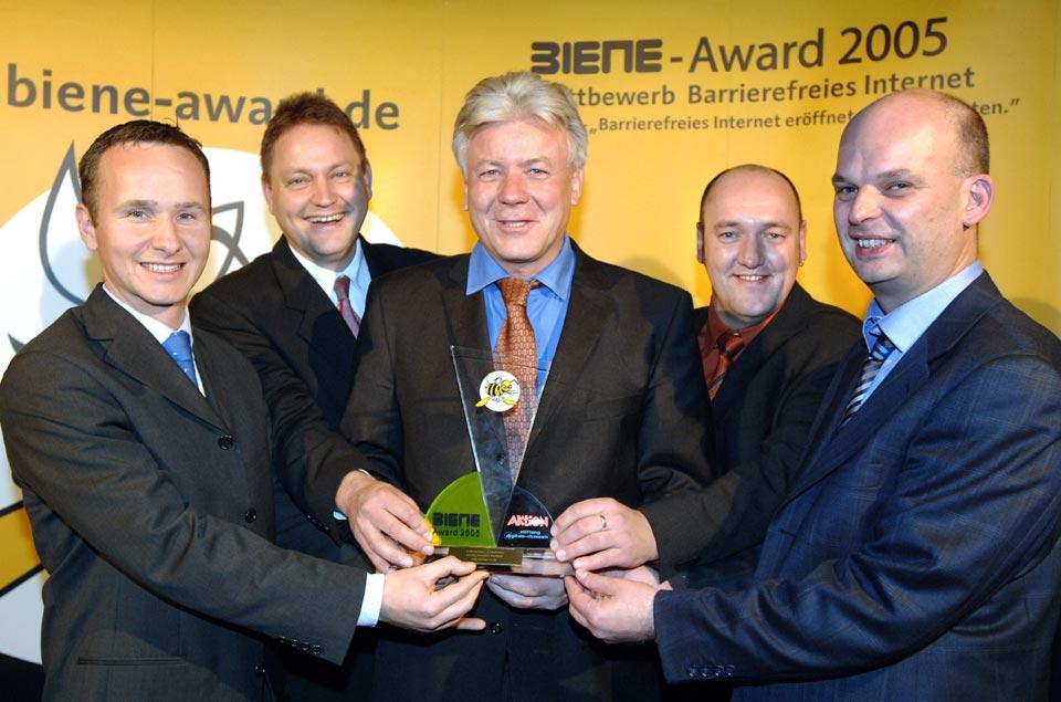 Dietmar Krüll, Rolf Laufhütte, Direktor Jeromin, Stephan Heller, Jan Eric Hellbusch von links nach rechts