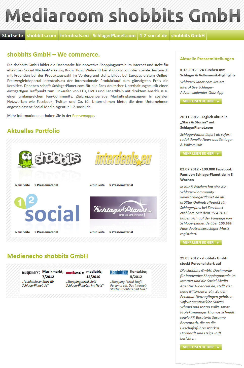 Screenshot: shobbits GmbH